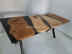 Resin River Wooden Dining Sofa Center Table Top Handmade Furniture Gifts For Her