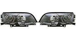 New Pair Set Of Left And Right Genuine Xenon Headlights Lamps For Bmw E46 3-series