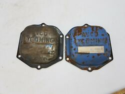 2 Piece Avco Lycoming Angle Valve Rocker Cover Airplane Salvage Part Aviation