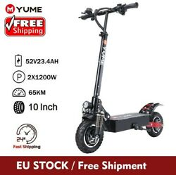 52v 2400w D5 40mile 40mph Off Road Tires Dual Motor Electric Scooter E-bike