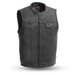No Rival - Menand039s Motorcycle Leather Vest