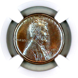 1916-s Ms64 Bn Ngc Lincoln Wheat Penny Registry Quality Collection