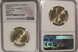 2020 D Innovation Dollar 1 Md Hubble Space Telescope Ngc Ms67 First Releases