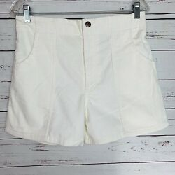 Menand039s Vintage White Corduroy Classics Op Style Shorts Size 32/34