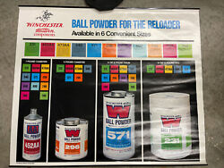 Winchester Western Components Store Display Poster Sign 36 X 30 Ball Powder