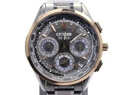Citizen Watch Exceed Eco Drive F900-t022707 Limited 500 Black / Gray Text