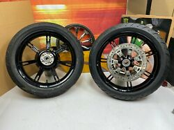 🔥oem 09-21 Harley 2021 Touring 18 Front And Rear Wheels Rims Dunlop Tires🔥