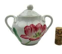 Spode For Williams Sonoma English Floral 2006 Sugar Bowl Butterfly Tulips