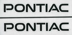 2x PONTIAC 6quot; Black Decals Stickers for Cars Windows Toolbox Garage...