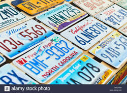Real License Plates Several States Single Pairs Collectors Artists Mancave Decor
