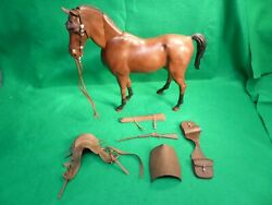 Vintage Marx Johnny Best Of The West Horse With Jointed Movable Neck + Tack