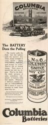 1916 Antique Farm Tractor Columbia Battery National Carbon Cleveland Oh Print Ad
