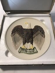 Bald Eagle Plate In Bas Relief By Goebel Germany Ltd Edition Bicentennial In Box