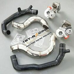 Billet 16t Turbo+3 Catless Downpipe+2 Inlet Pipe Fit 07-08 Bmw 335xi N54 3.0