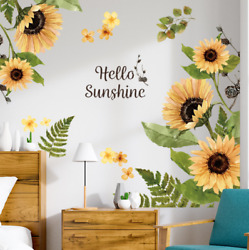 Sunflower DIY PVC Removable Wall Art Stickers Vinyl Decal Room Home Mural Decors