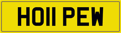 Hope W Theme Number Plate Ho11 Pew Registration With All Fees Included Hopes Reg