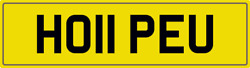 Hope U Theme Number Plate Ho11 Peu Registration With All Fees Included Hopes Reg