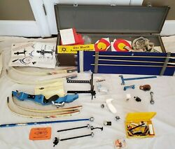 Vintage Left Hand Hoyt Pro Medalist Recurve Bow Olympic Blue Lh Lots Of Extras