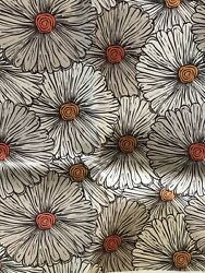 ambesonne vtg fabric 1 yard upholstery floral daisies marigold