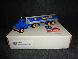 Sunoco N9000 Tractor And Skirted Tanker Trailer 164th Semi Truck
