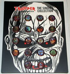 Iron Maiden Trooper Beer Bottle Tops Caps Full Set 18 Singles And Collector Frame