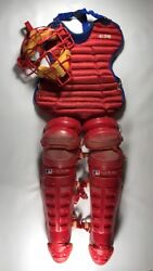 Vintage Montreal Expos Game Used Catchers Gear