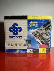 Vintage Soyo Sy-7vca Motherboard -mainboard New Sold As Is