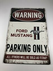 For Ford Mustang Tin Metal Sign Wall Art And Wall Plaques