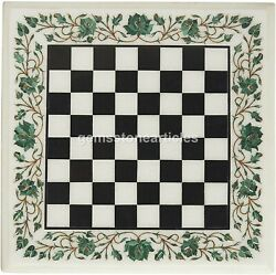 Marble White Chess Set Indoor Game Chess Board Play Room Décor Furniture Gift