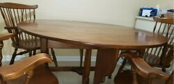 Sprague And Carlton Dining Room Table Solid Maple With Four Chairs