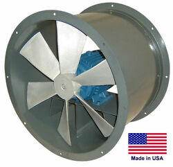 Tube Axial Duct Fan - Direct Drive - 12 - 1/2 Hp - 230/460v - 3 Phase - 1875