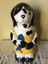 Ceramic Dog Treat Jar By Henriksen Imports New Ship Free 15 Tall Pet Container