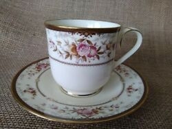Noritake Bone China Footed Cup And Saucer Two Piece Set Brently