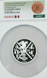 1992 Mexico Silver Fusion Of Two Cultures Ngc Pf 70 Ultra Cameo Rare Perfection
