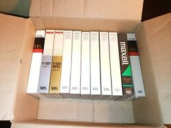 Tdk Rca Maxell Lot Of 11 Vhs Tapes Prerecorded Sold As Used Blanks Hs 120
