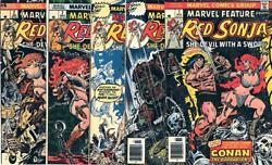 Marvel Com Red Sonja Marvel Feature 2nd Series - Red Sonja Collection - 5 Vg