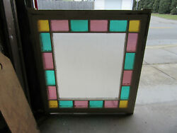 Antique Queen Anne Style Stained Glass Window 43 X 41 Salvage