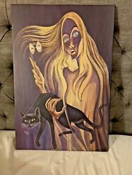 Disney World The Opera Glasses Lady 20x30 Haunted Mansion Sinister 11 Giclee