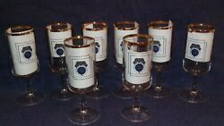 Chicago Teamsters Local Union No. 705 I. B. Of T. Set Of 8 Fluted Glasses