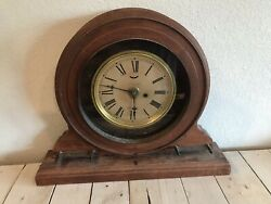 Antique Waterbury Clock Co. Oak Time And Price Register Weird Style Business