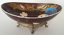 Superb Cup Lunandeacuteville-decor Screens Base In Brass - French Majolica Cup