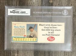 1962 Post Mickey Mantle And Roger Maris Ad Back Life Magazine Uncut Panel Bgs 3