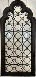 Antique Aesthetic Era C1880 Monumental Arched Leaded Glass Window Restored
