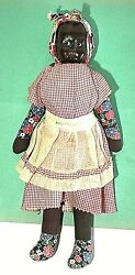 New Orleans - La 1930and039s - 50and039s African American Black Cloth Souvenir Doll