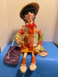 Vintage New Hallmark 24 Poseable Cloth Talking Maxine Doll Working With Tags