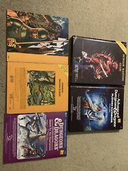 Assorted Vintage Dungeon And Dragons, Hardcover, Screens, Game, Dice, Dandd, D And D