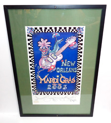 Mardi Gras 2003 Framed Jamie Hayes New Orleans Poster Limited Edition