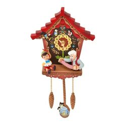 Pinocchio Wood Wall Clock Story Collection Disney Store Revival Antique New