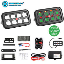 Universal Car 8 Gang Switch Panel On-off Led Switch Panel Circuit Control 1200w