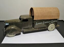 Vintage 1930and039s/1940and039s Wyandotte Toys - Army Supply Corps Toy Truck